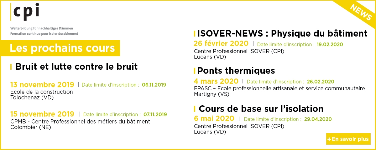 CPI Isover Cours 2019 - 2020